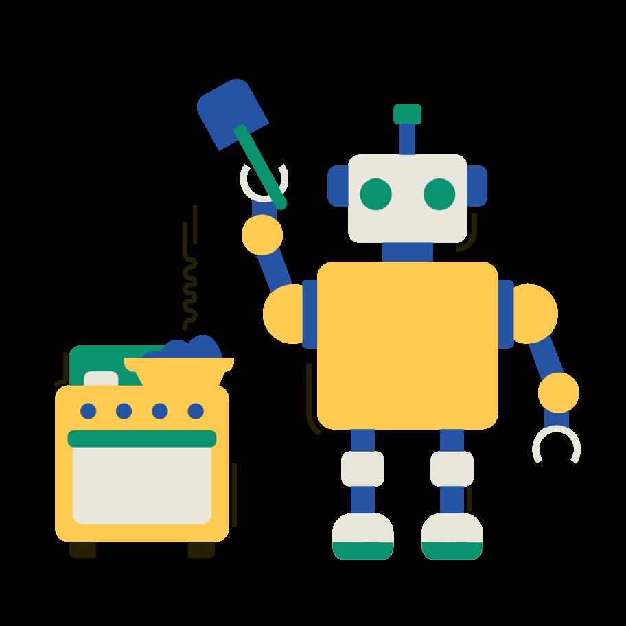 Robot cook Clipart illustration in PNG, SVG
