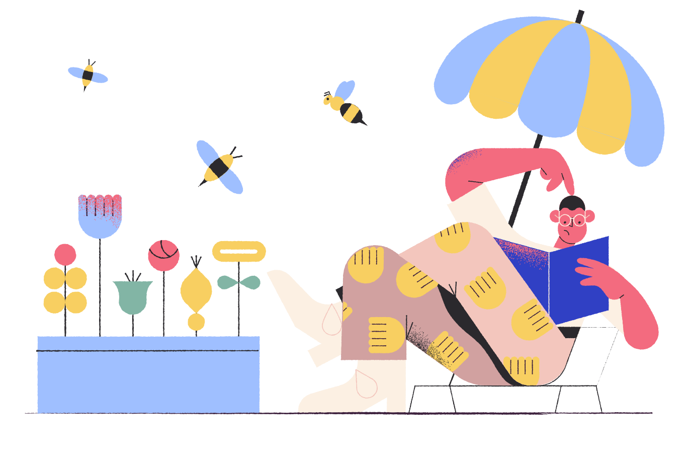 Relaxing outdoors Clipart illustration in PNG, SVG