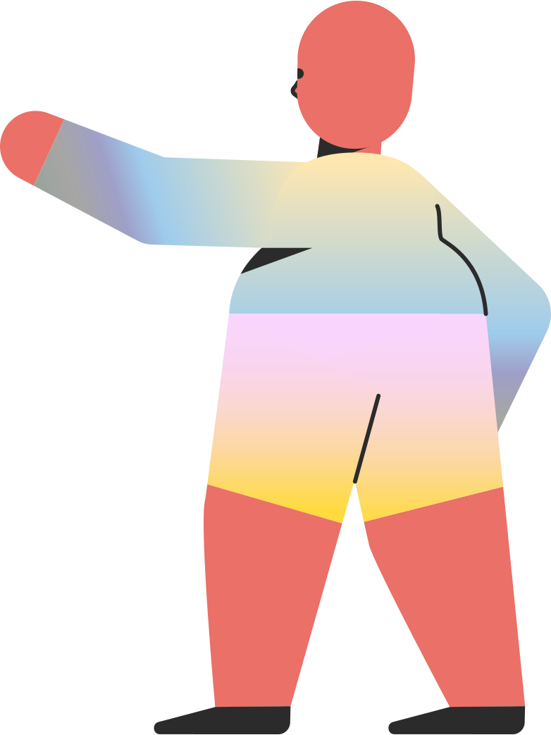 chubby child pointing back Clipart illustration in PNG, SVG