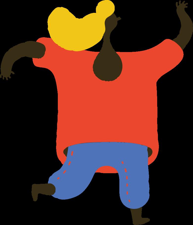 running girl Clipart illustration in PNG, SVG