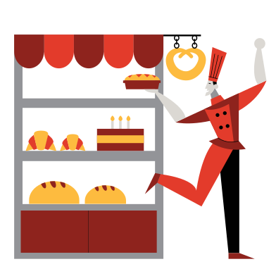style Fresh bakery images in PNG and SVG | Icons8 Illustrations