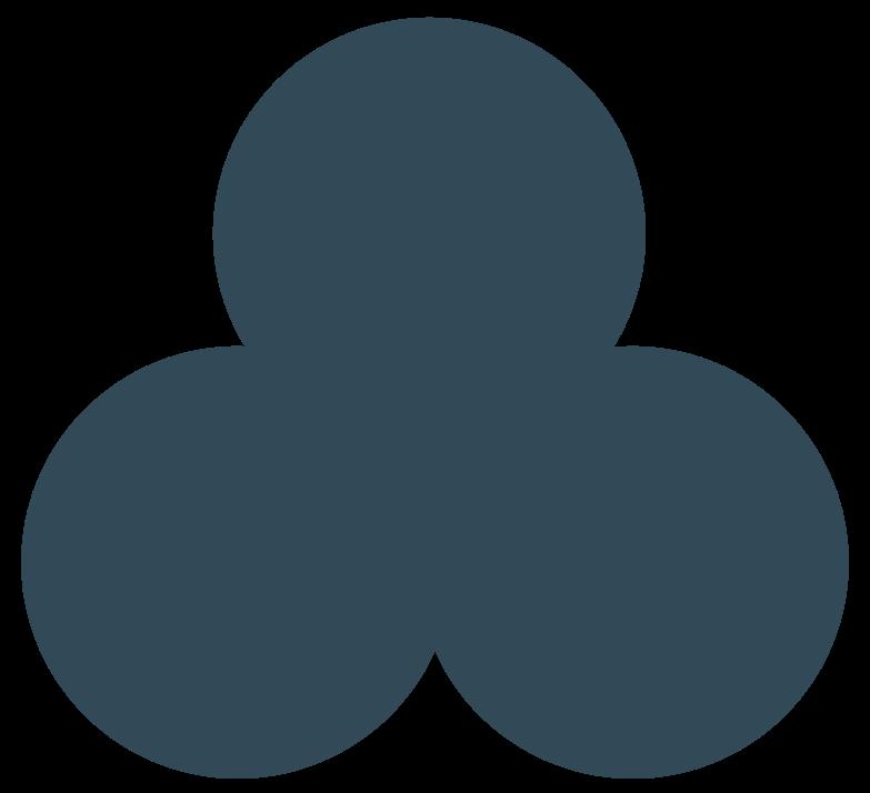 trefoil dark blue Clipart illustration in PNG, SVG
