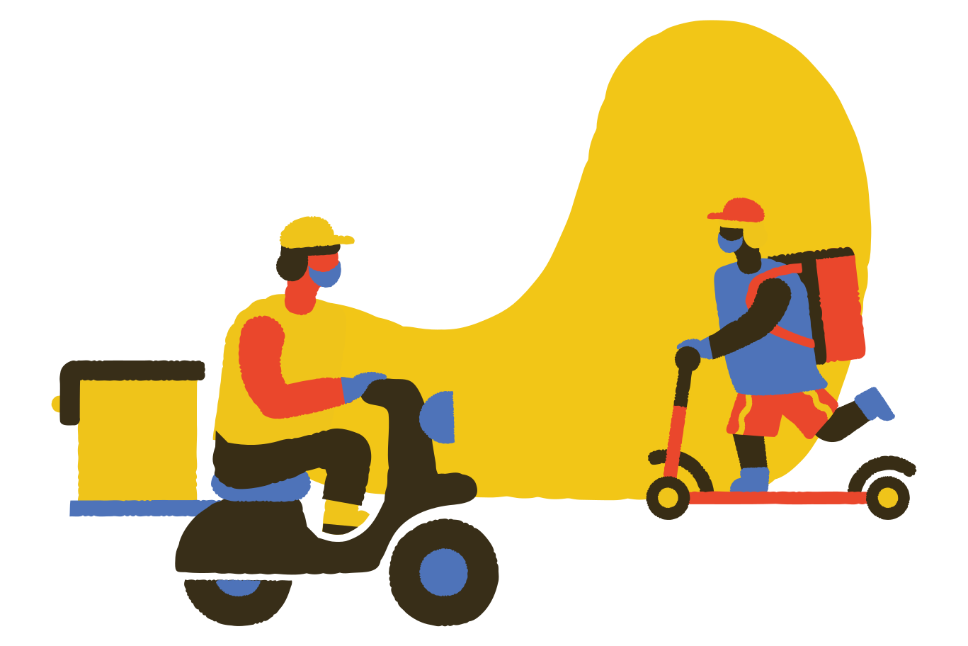 Delivery in high demand Clipart illustration in PNG, SVG