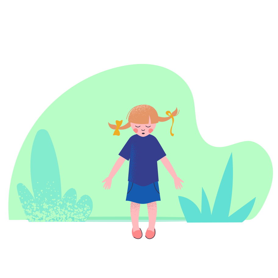 Shy kid Clipart illustration in PNG, SVG