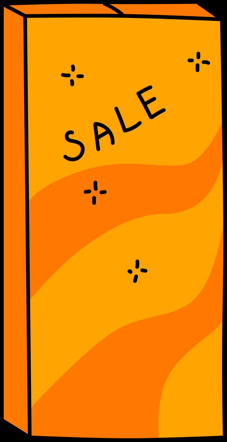 box sale Clipart illustration in PNG, SVG