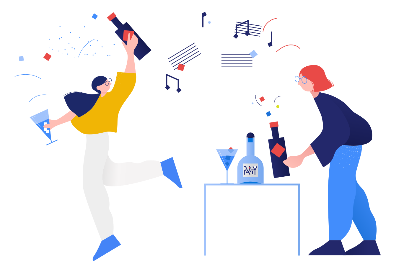 Party time! Clipart illustration in PNG, SVG