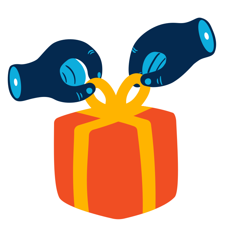 Unpacking a gift Clipart illustration in PNG, SVG