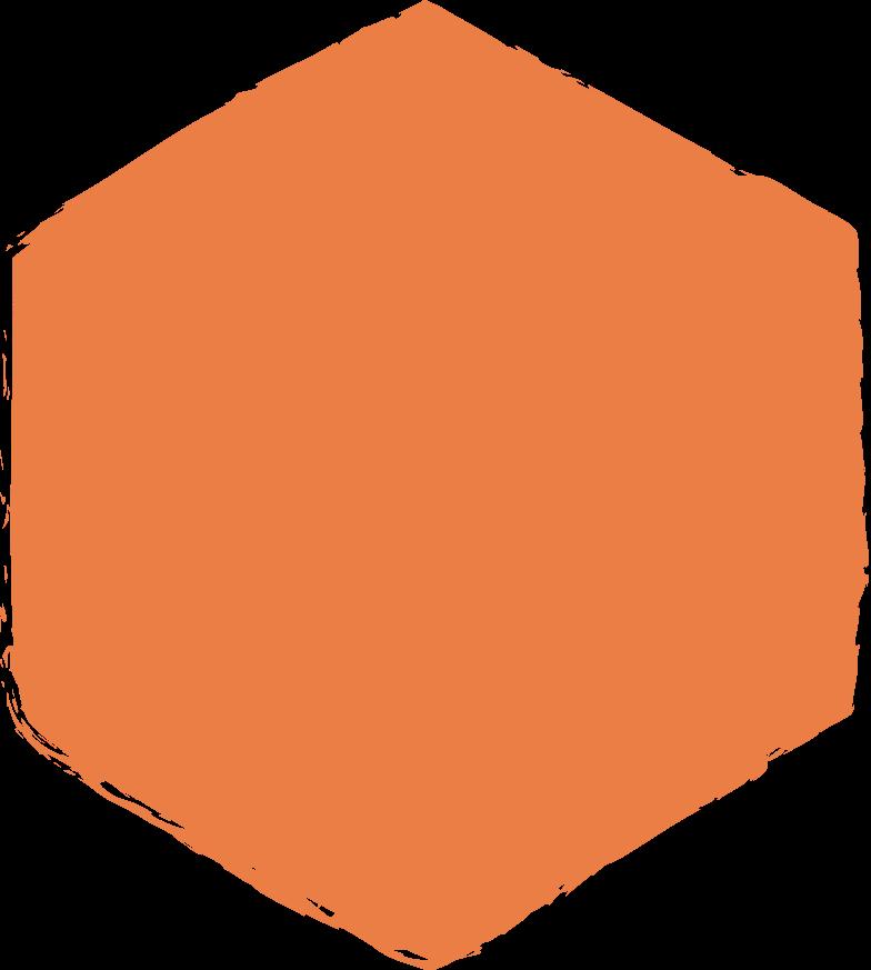 hexadon-orange Clipart illustration in PNG, SVG