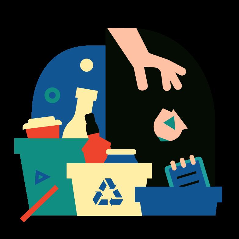 Sorting garbage Clipart illustration in PNG, SVG