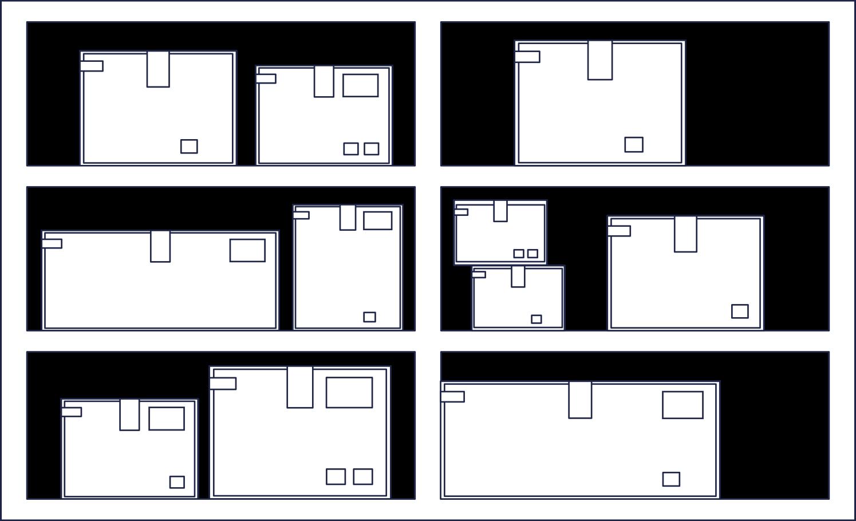 order completed  storage line Clipart illustration in PNG, SVG
