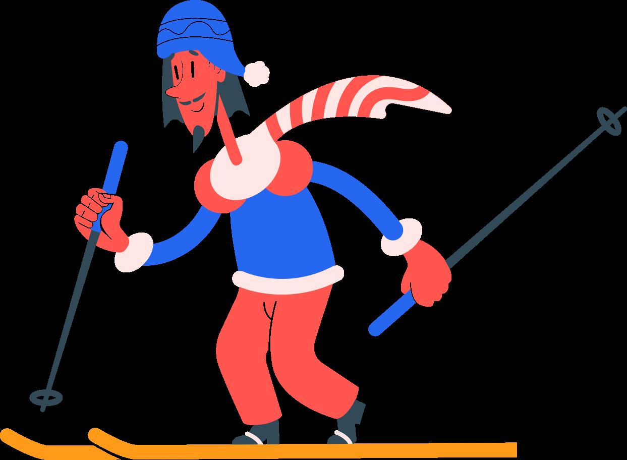 skier Clipart illustration in PNG, SVG