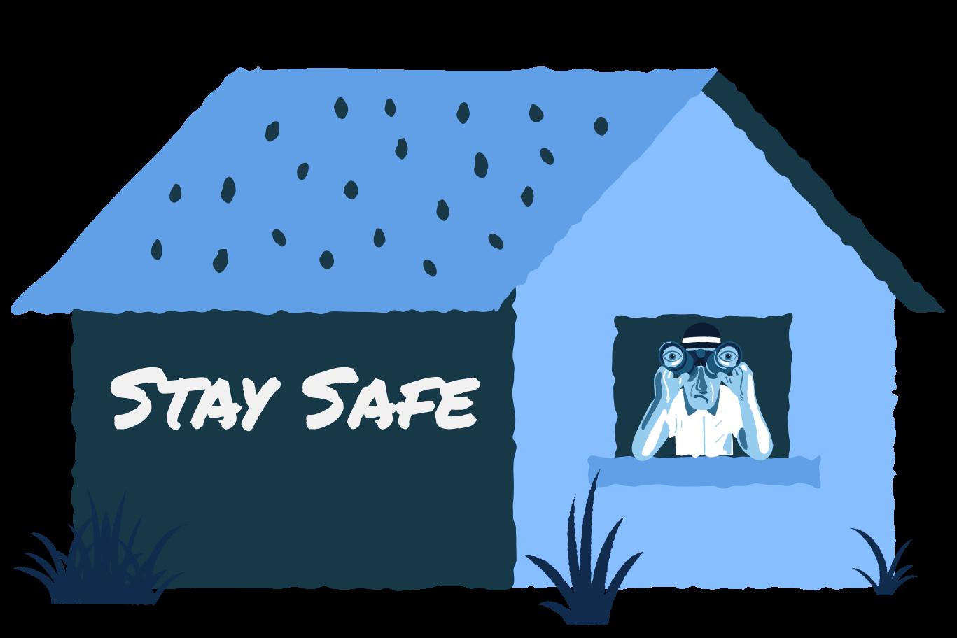 Stay Safe Clipart illustration in PNG, SVG
