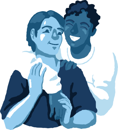style man and man hugging images in PNG and SVG | Icons8 Illustrations