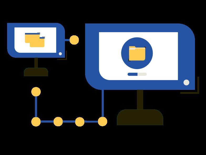 File sharing Clipart illustration in PNG, SVG