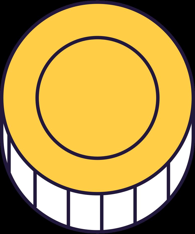 Клипарт Оплата обработана монета в PNG и SVG