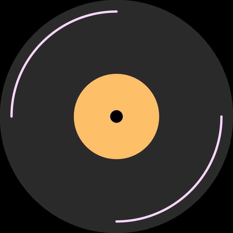 vinyl disk Clipart illustration in PNG, SVG