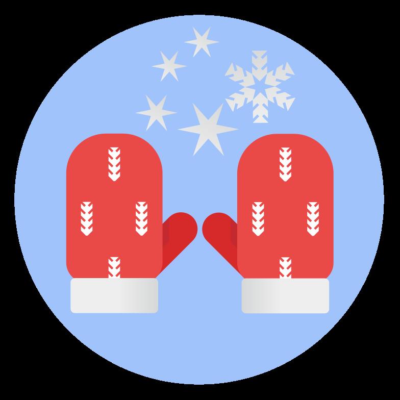 Illustration clipart Mitaines d'hiver de noël aux formats PNG, SVG