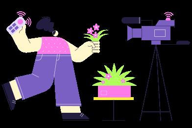 Иллюстрация Блог о растениях в стиле  в PNG и SVG | Icons8 Иллюстрации