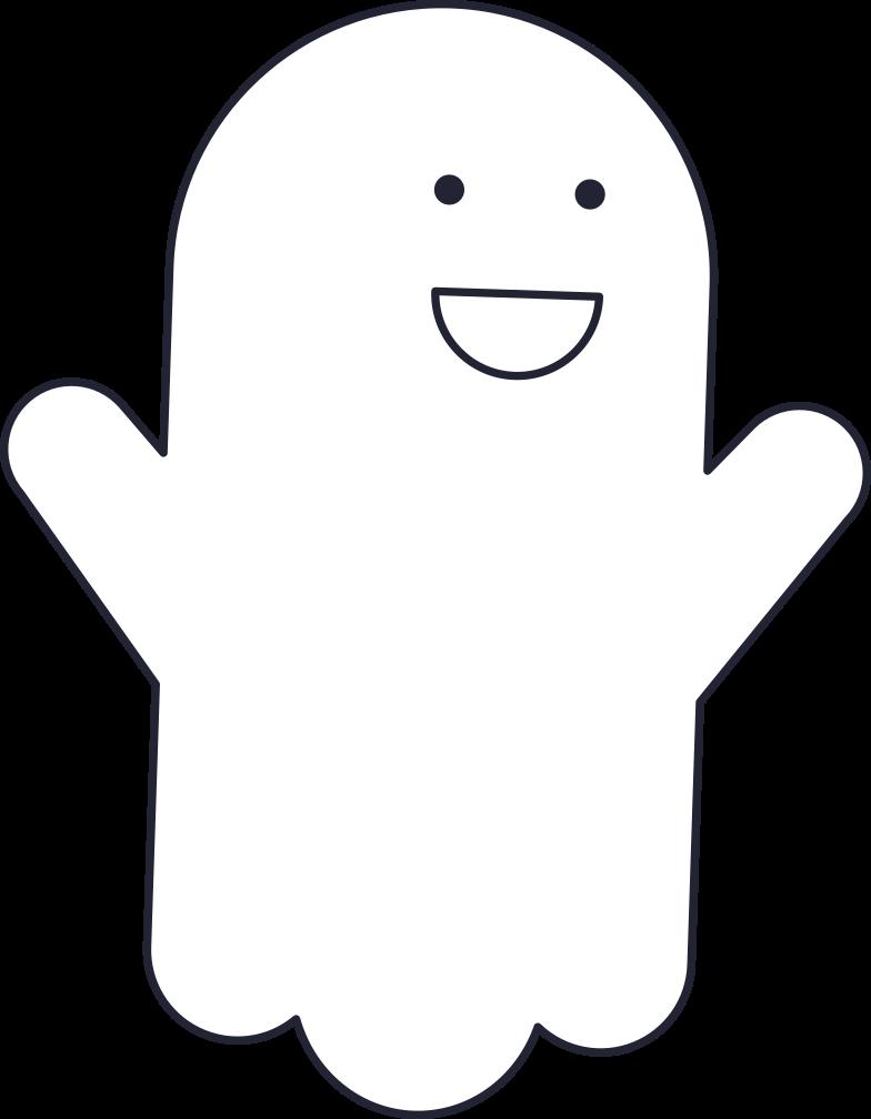 PNGとSVGの  スタイルの 白い幽霊 ベクターイメージ | Icons8 イラスト