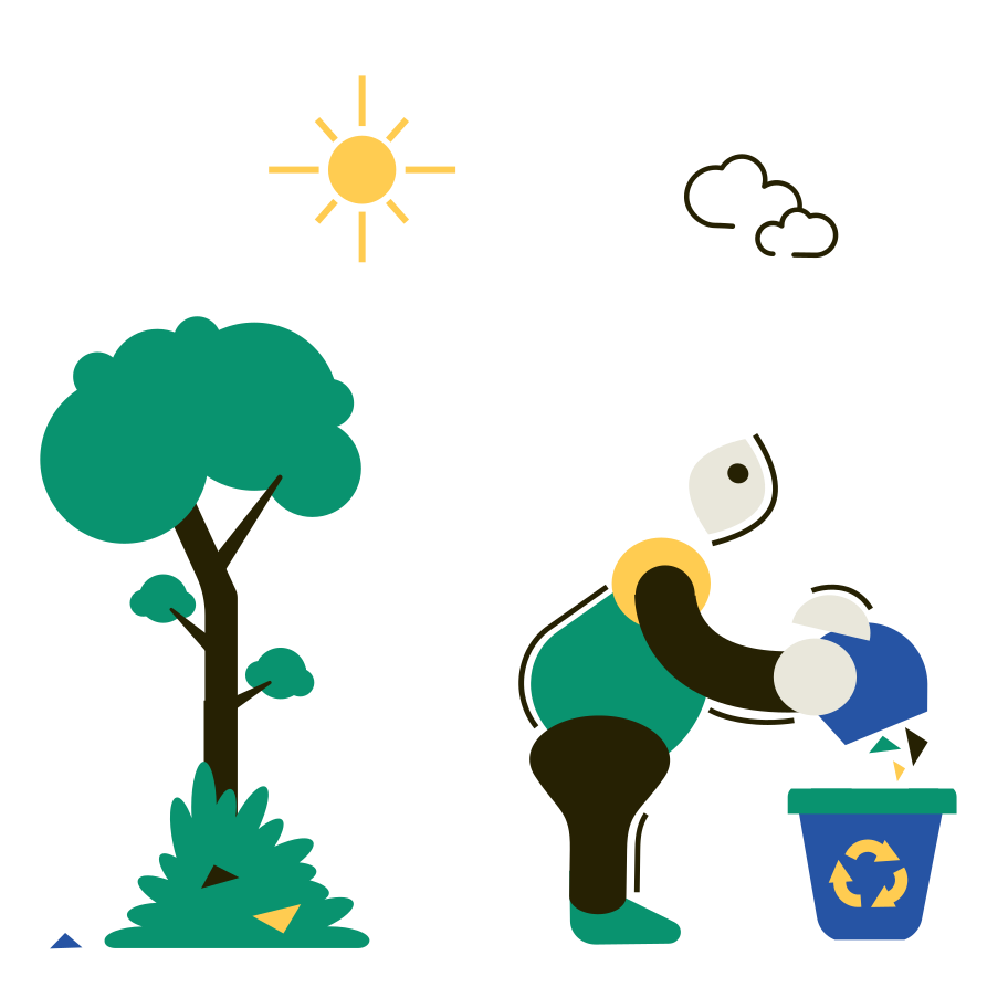 Environmental pollution Clipart illustration in PNG, SVG