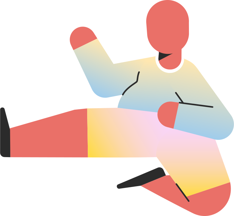 style chubby child jump kick Vector images in PNG and SVG | Icons8 Illustrations