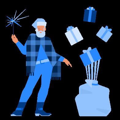 Imágenes de Santa con regalos estilo  en PNG y SVG   Ilustraciones Icons8