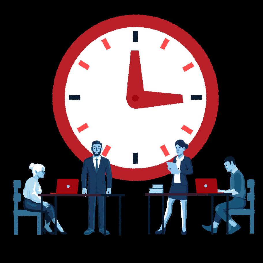 Time-management Clipart illustration in PNG, SVG