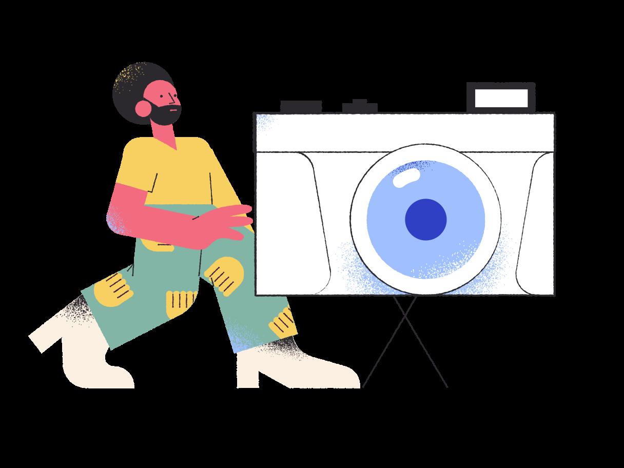 Cameraman Clipart illustration in PNG, SVG