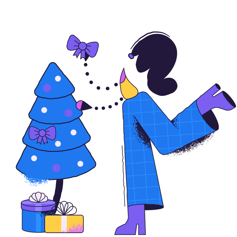 Christmas tree decoration Clipart illustration in PNG, SVG