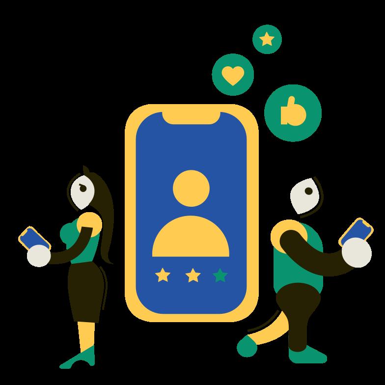 Social network Clipart illustration in PNG, SVG
