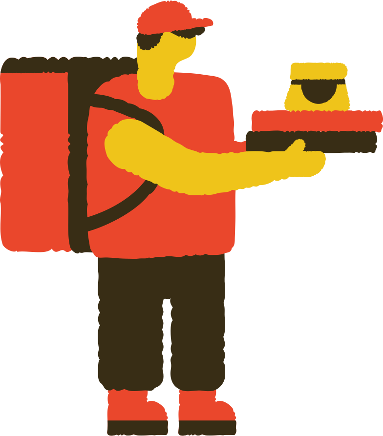 style food delivery man Vector images in PNG and SVG | Icons8 Illustrations
