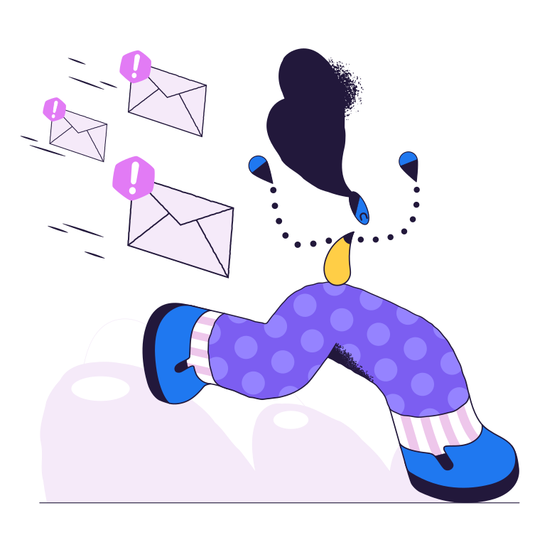 style Running away from messages Vector images in PNG and SVG | Icons8 Illustrations