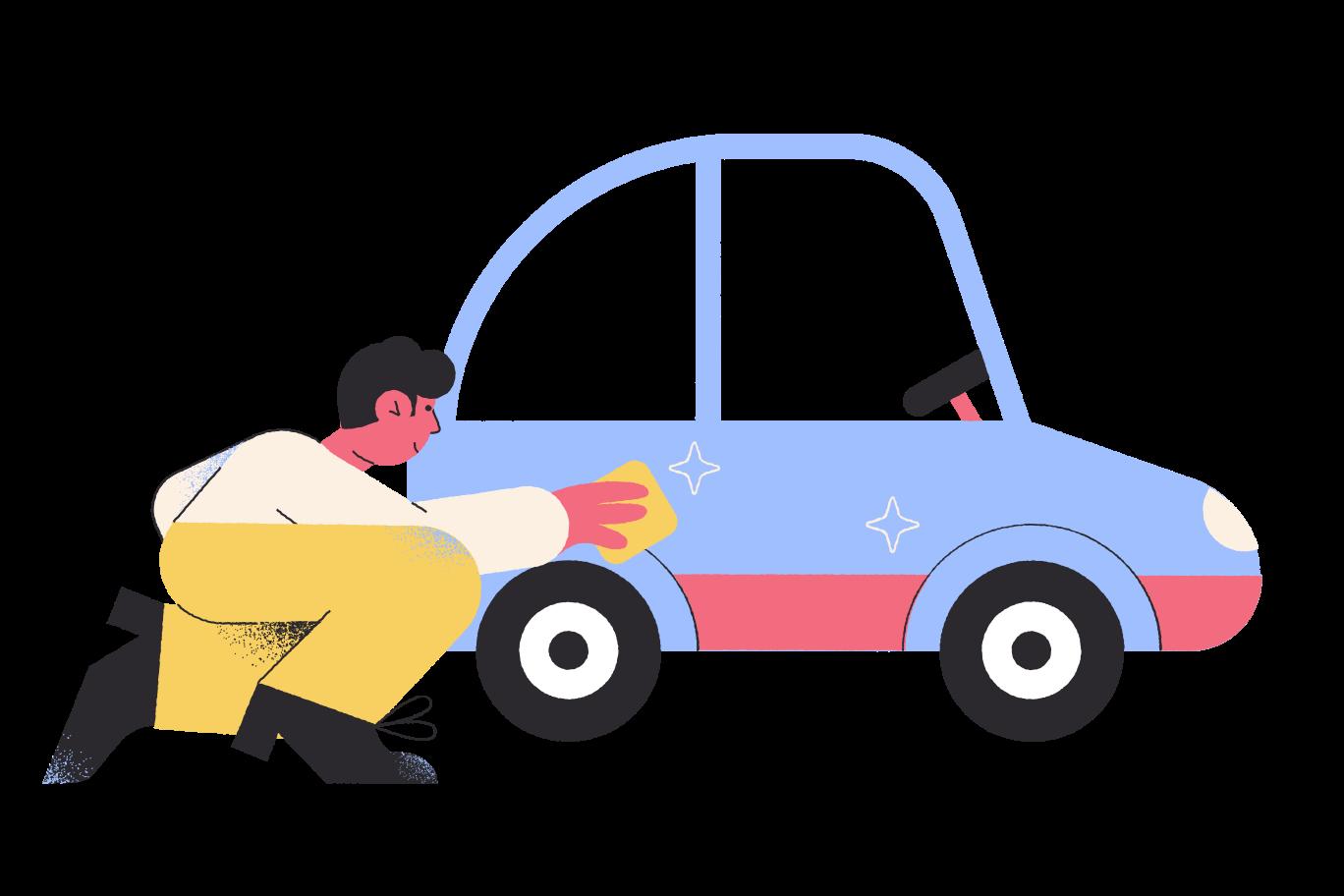 Сar wash Clipart illustration in PNG, SVG