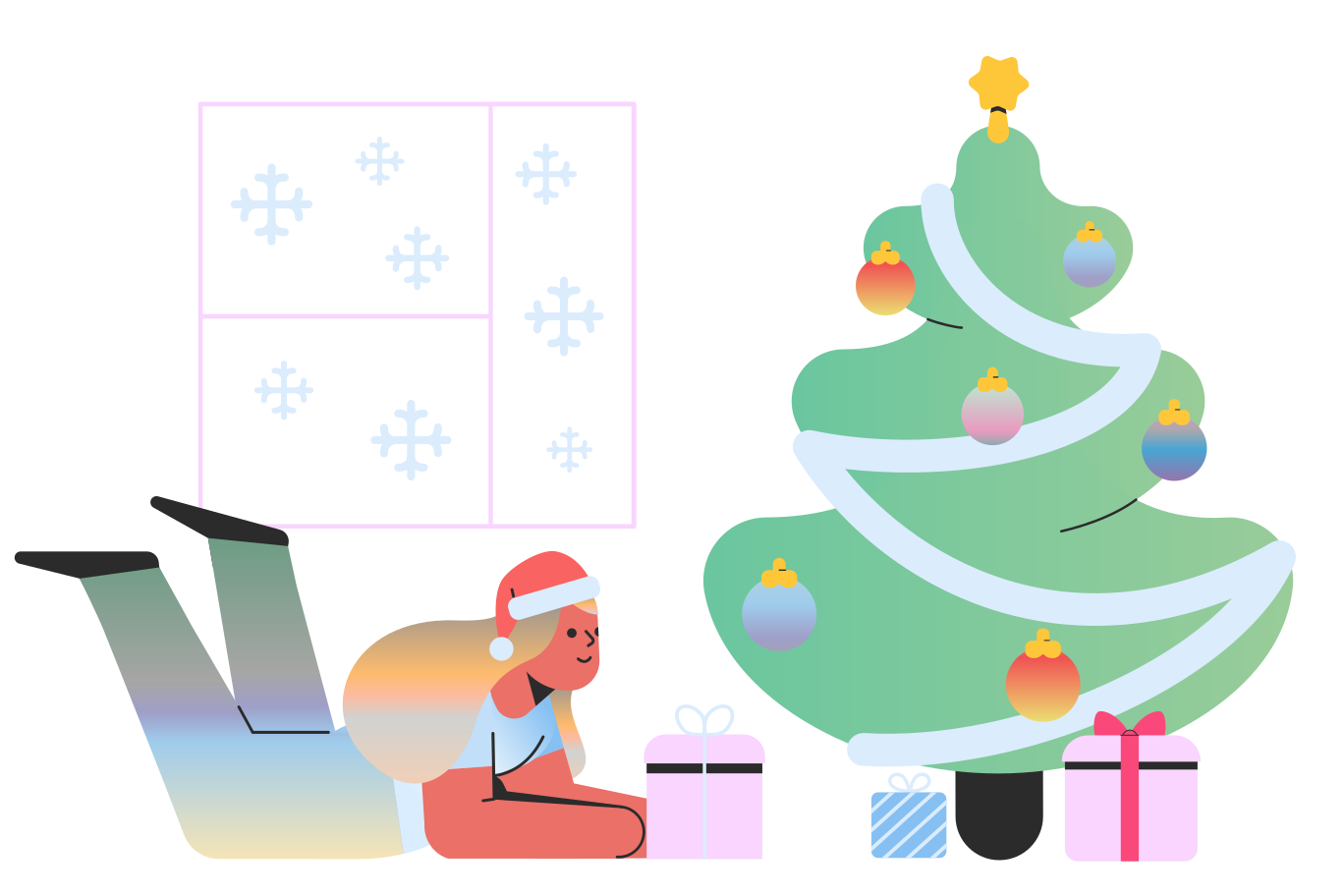 Weihnachten steht vor der tür Clipart-Grafik als PNG, SVG