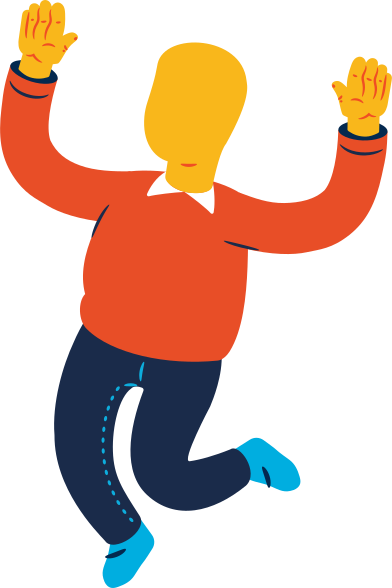 style chubby man jumping images in PNG and SVG   Icons8 Illustrations
