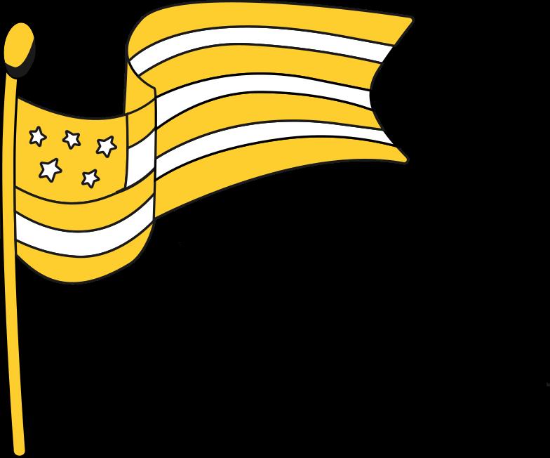 american flag Clipart illustration in PNG, SVG