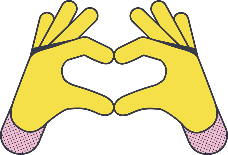love you gesture Clipart illustration in PNG, SVG