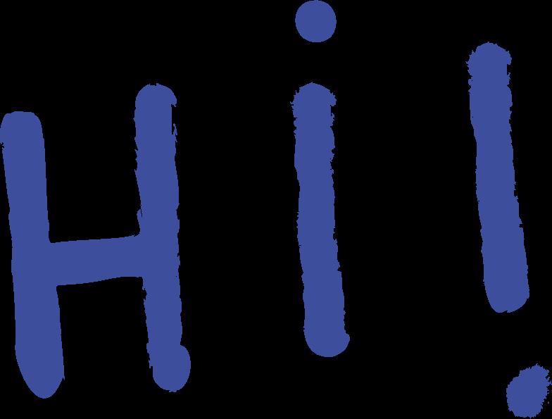 Hallo! Clipart-Grafik als PNG, SVG