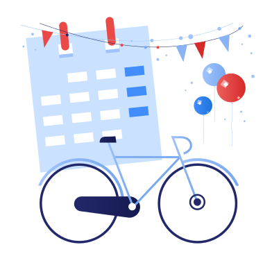 style International bicycle day images in PNG and SVG | Icons8 Illustrations