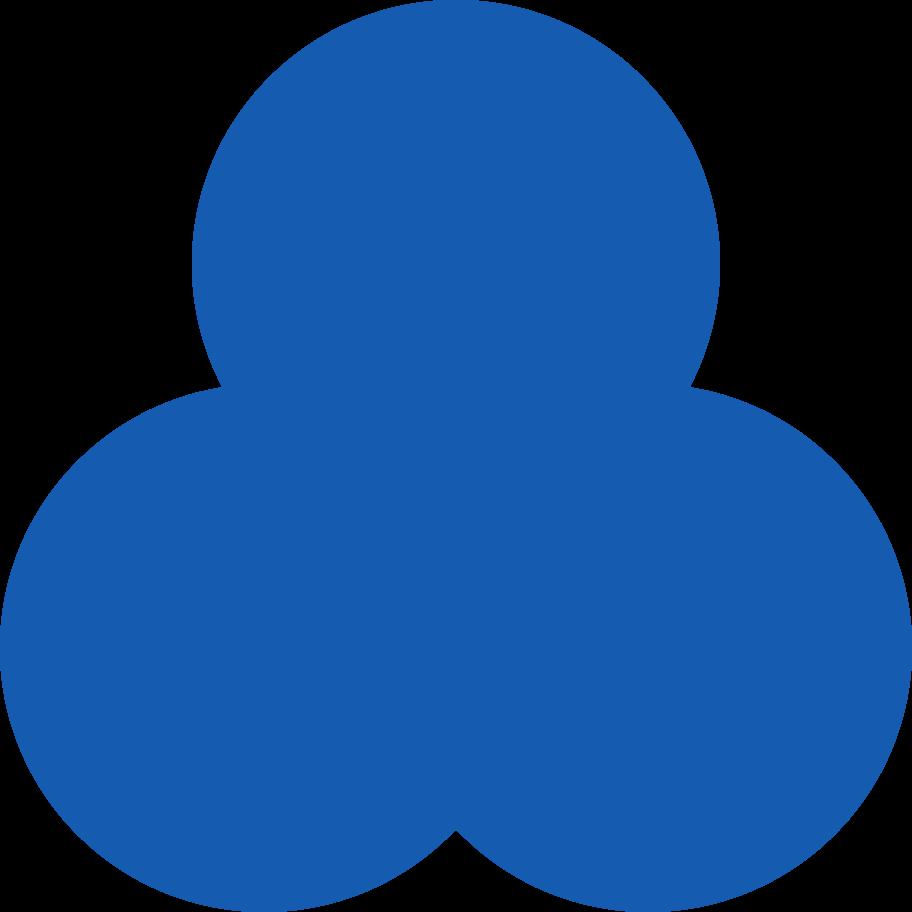 trefoil-blue Clipart illustration in PNG, SVG