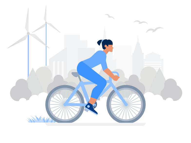 Ecology in City Clipart illustration in PNG, SVG