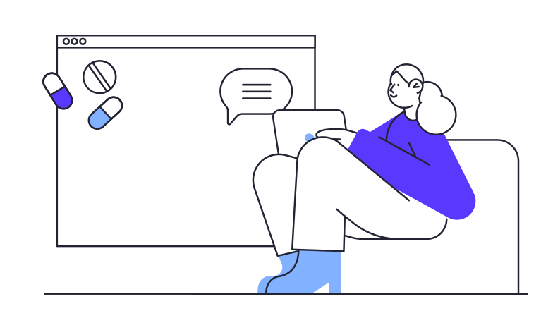 Online doctor consultation Clipart illustration in PNG, SVG