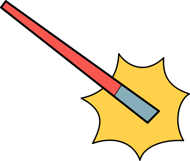 magic wand Clipart illustration in PNG, SVG