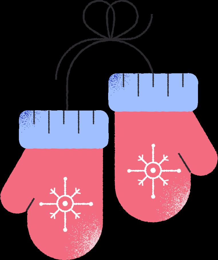 Ilustración de clipart de Navidad medio en PNG, SVG