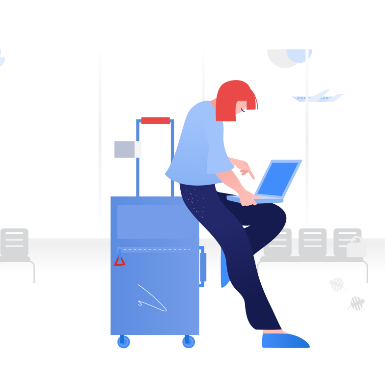 style Working from airport Vector images in PNG and SVG | Icons8 Illustrations