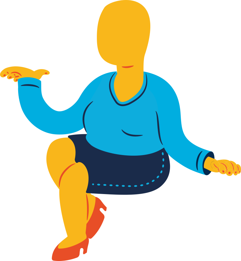 style chubby woman sitting Vector images in PNG and SVG | Icons8 Illustrations