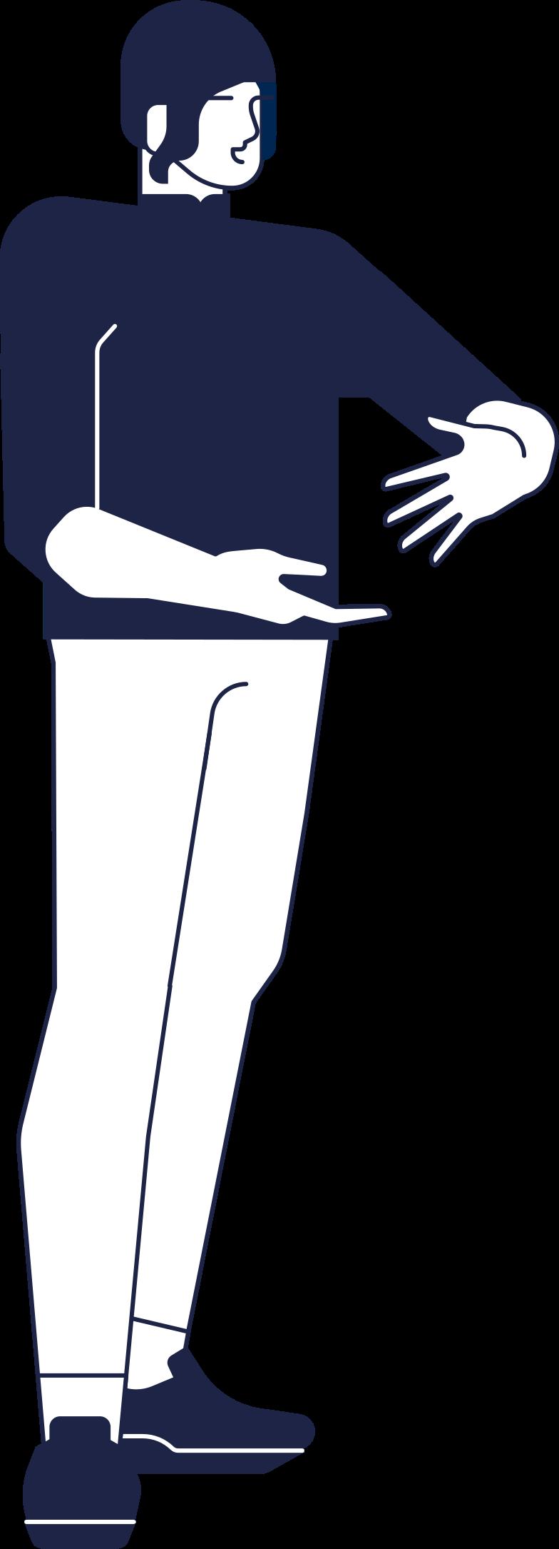man keeps smth Clipart illustration in PNG, SVG