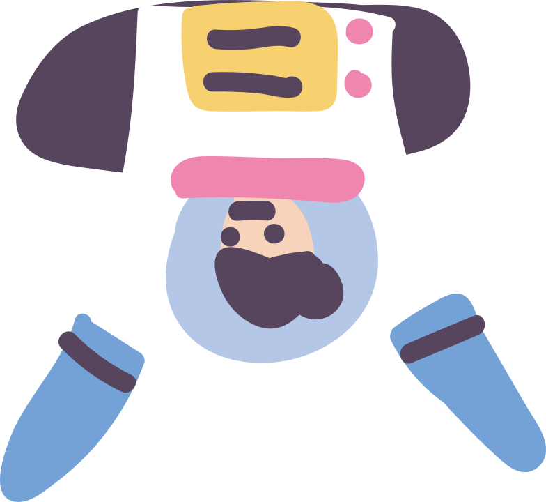 body of the astronaut Clipart illustration in PNG, SVG
