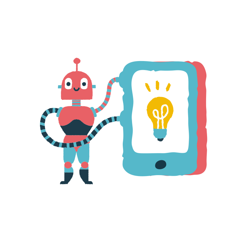 Technologies and new ideas Clipart illustration in PNG, SVG