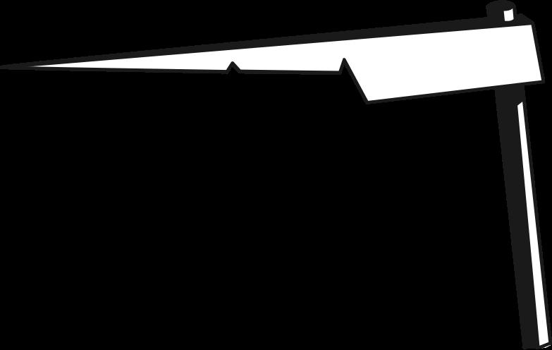scythe blade part Clipart illustration in PNG, SVG